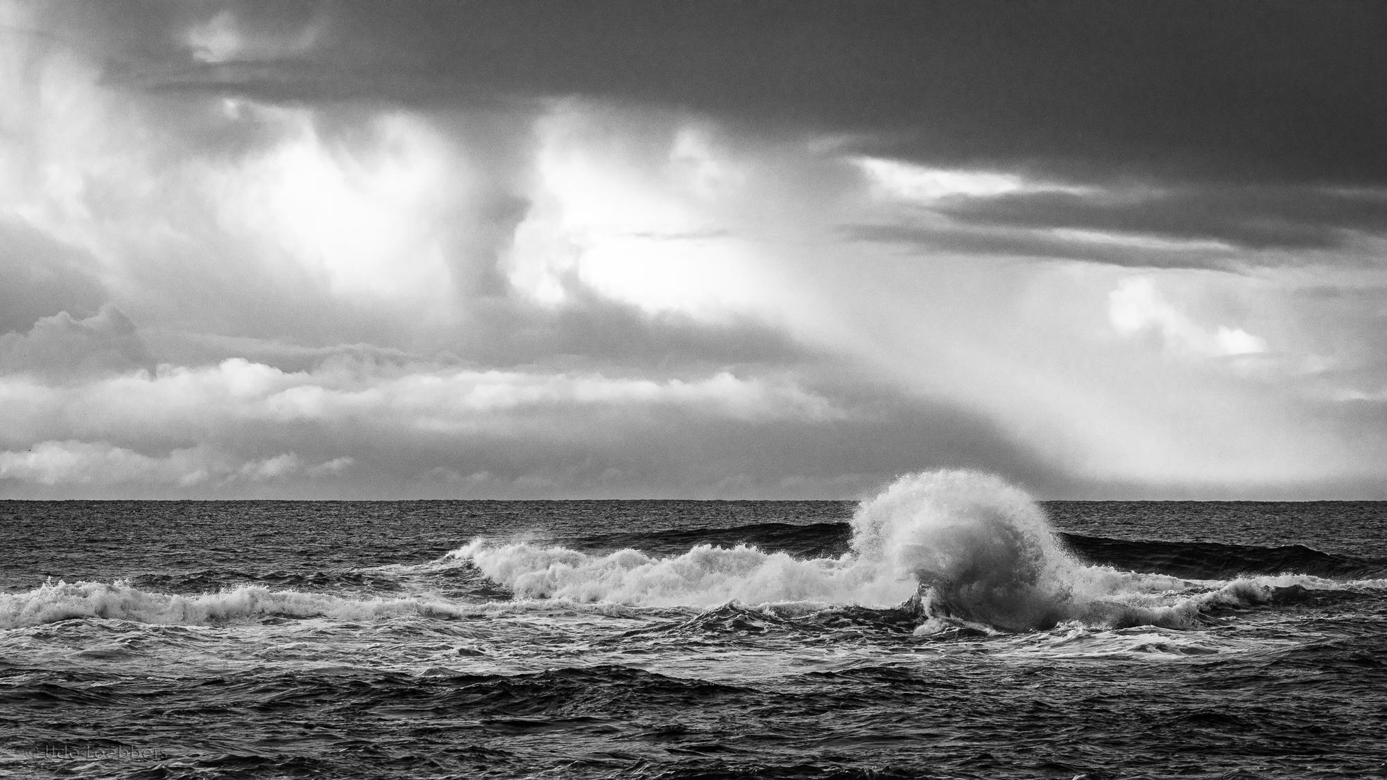 Stürmische See bei Akranes, Island