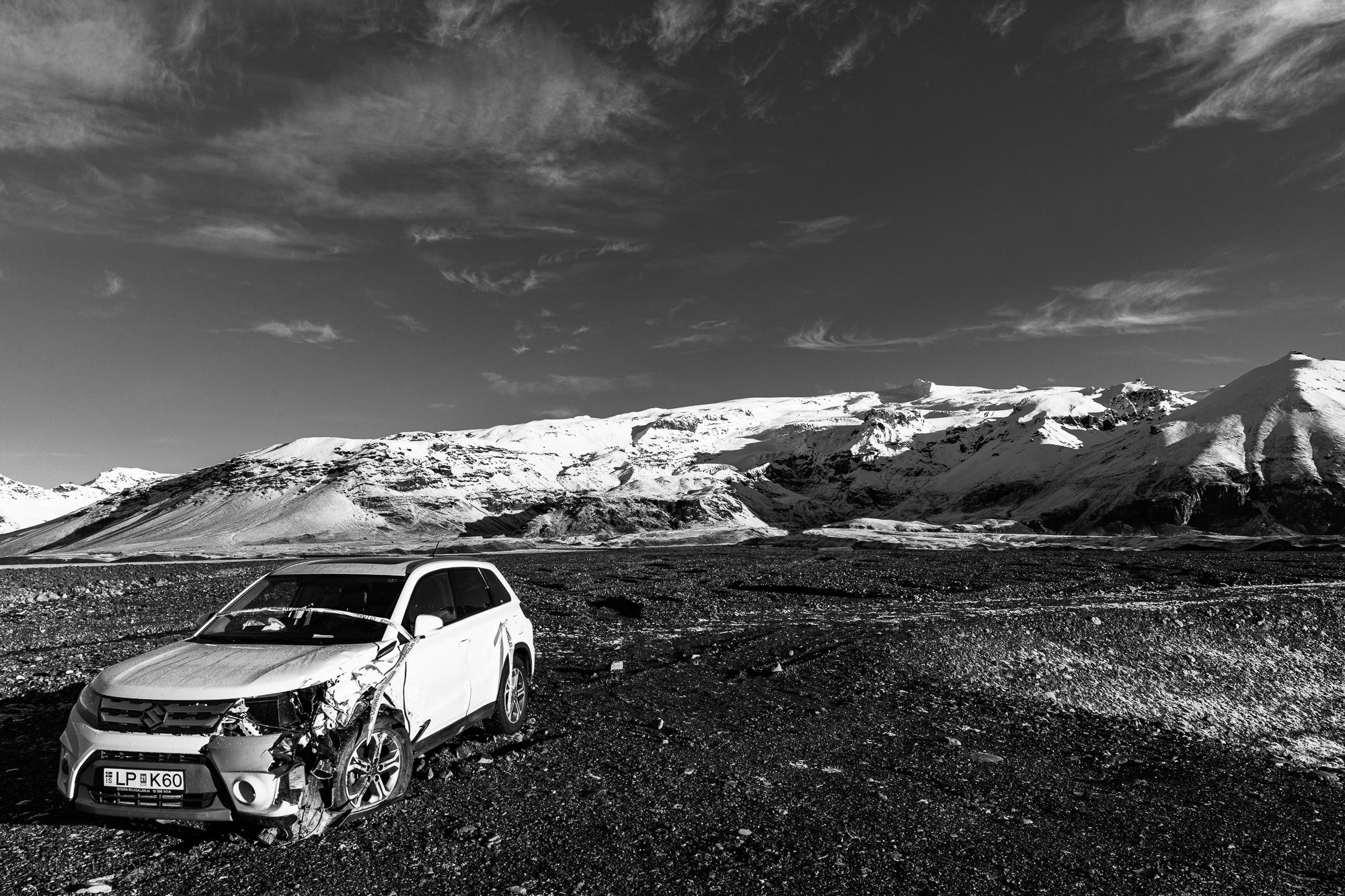 Ausläufer des Vatnajökul bei Hof, Island
